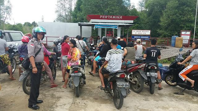 KSPK Perbatasan Gelar Patroli Awasi Penyaluran BBM