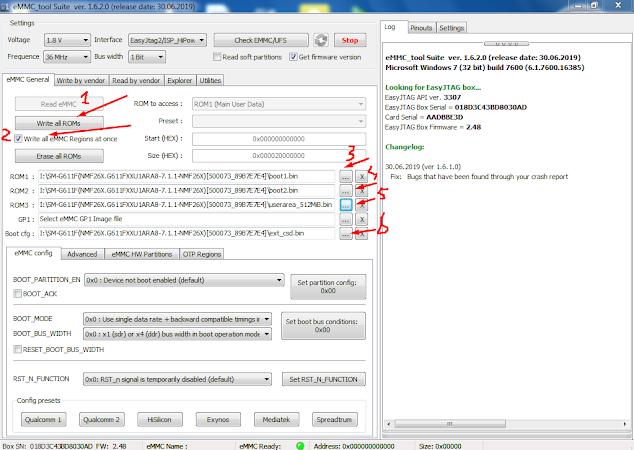 Huawei G610-U20 Dead Boot Repair Emmc Dump File