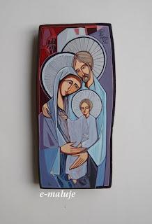 Fioletowa Święta Rodzina … Ikona Autorska Modlitwą Pisana