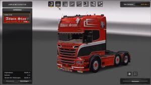 Truck - Scania R520 Adwin Stam