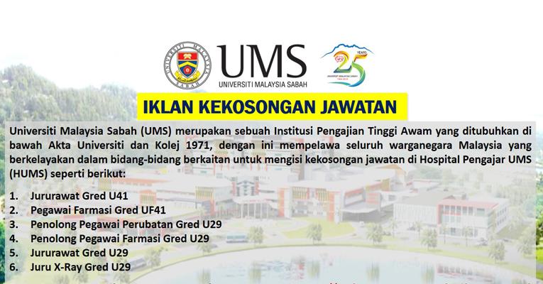 Jawatan Kosong Universiti Malaysia Sabah UMS