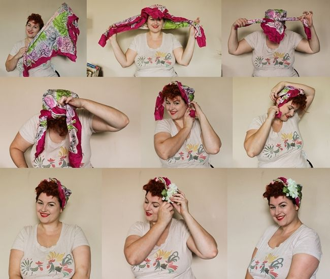 how to tie a vintage scarf turban