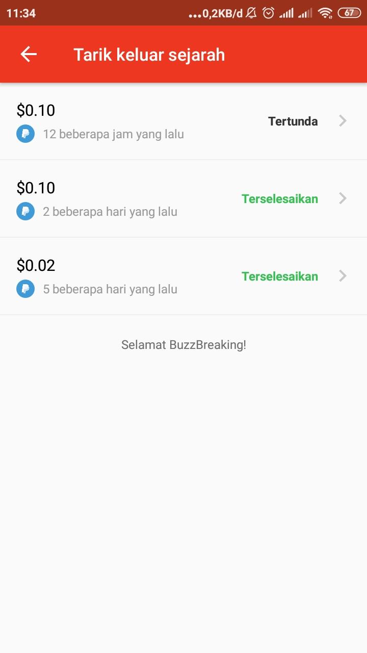Aplikasii Buzzbreak Daftar Sekarang, Payout Sekarang Aplikasi Penghasil Dolar Gratis Terbaru.