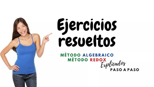 EJERCICIOS RESUELTOS REDOX & ALGEBRAICO