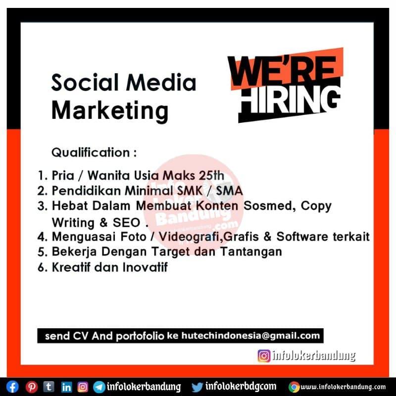 Lowongan Kerja Social Media Marketing Hutech Indonesia Bandung Mei 2021