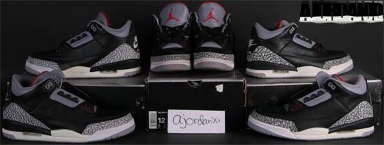 free shipping fbe59 cd523 Air Jordan III Retro Black Cement Grey (2001)