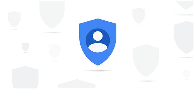 رمز خصوصية أزرق مجردة من Google.