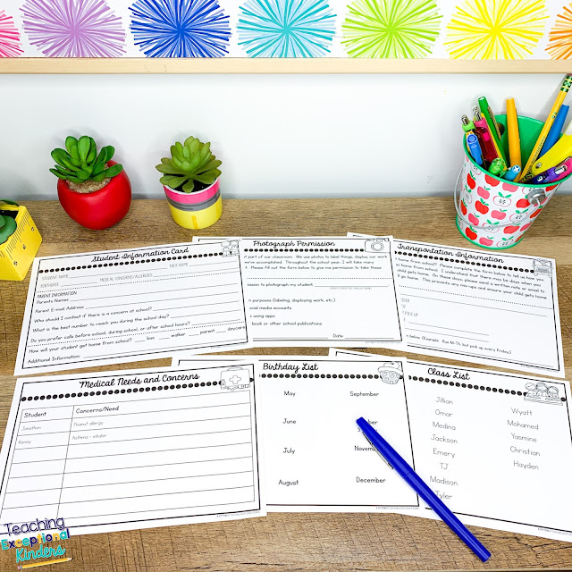 Organize important student information with these easy-to-use, editable student information cards today!