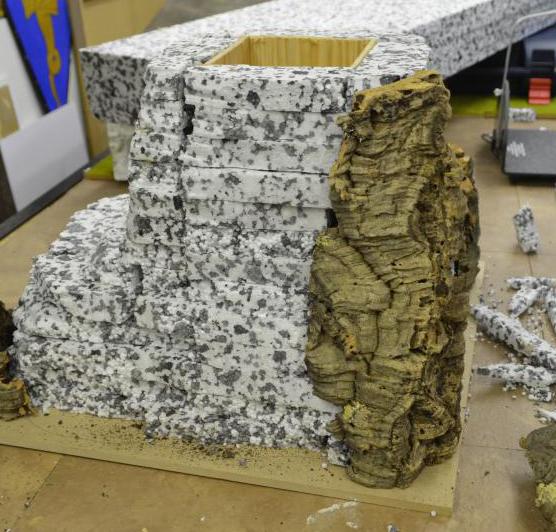 how to make styrofoam look like stone