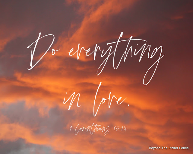 devotional about choosing love over all else