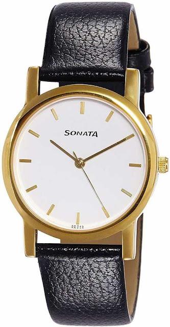 Sonata Nf7987YL02CJ Analog Watch