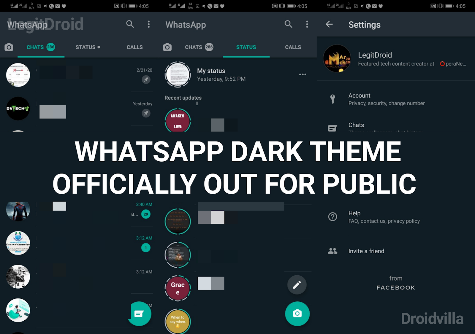 Whatsapp dark theme public