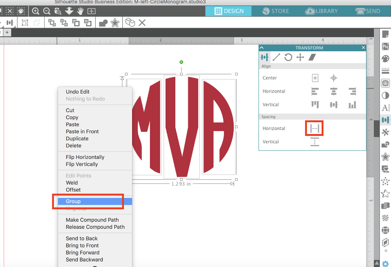 How to Use SVG Alphabet Sets in Silhouette Studio (Monogram