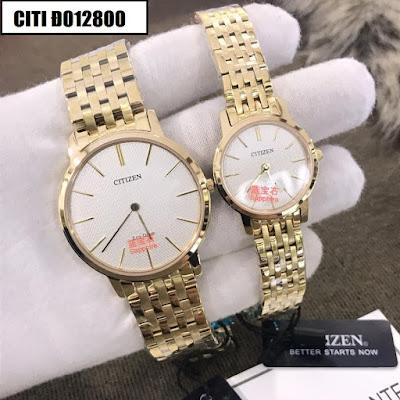 Đồng hồ đeo tay cặp đôi dây inox Citizen Citi Đ012800