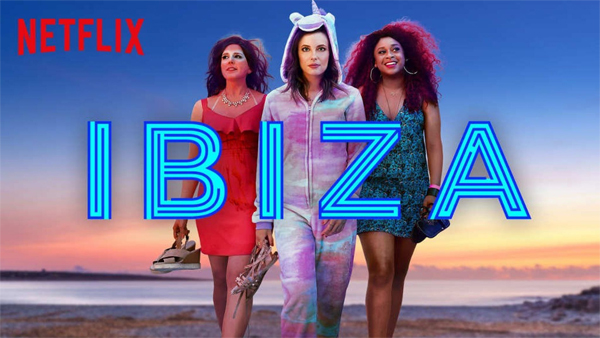 promotional image for Ibiza featuring the three female leads