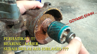 Penyebab Pompa Air Suara Kasar dan Berisik - Bearing Pompa Air Aus
