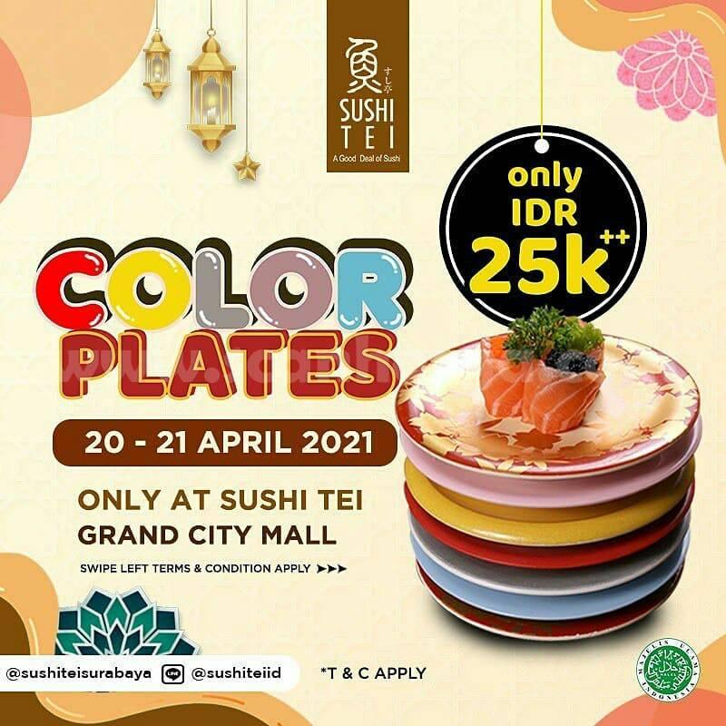 SUSHI TEI Promo 25K All Color Plate Terbaru Periode 20 - 21 April 2021