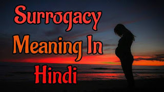 Surrogacy meaning in hindi