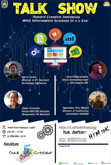 TALKSHOW Toward Creative Indonesia with Information Systems in 4.0 Era - 18 Okt 2019