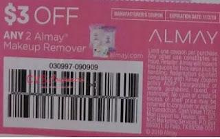 $3.00/2 Almay Makeup Remover Coupon