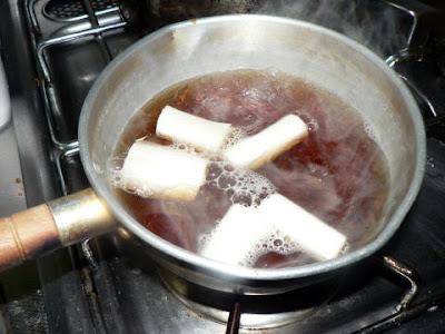 ねぎを煮る