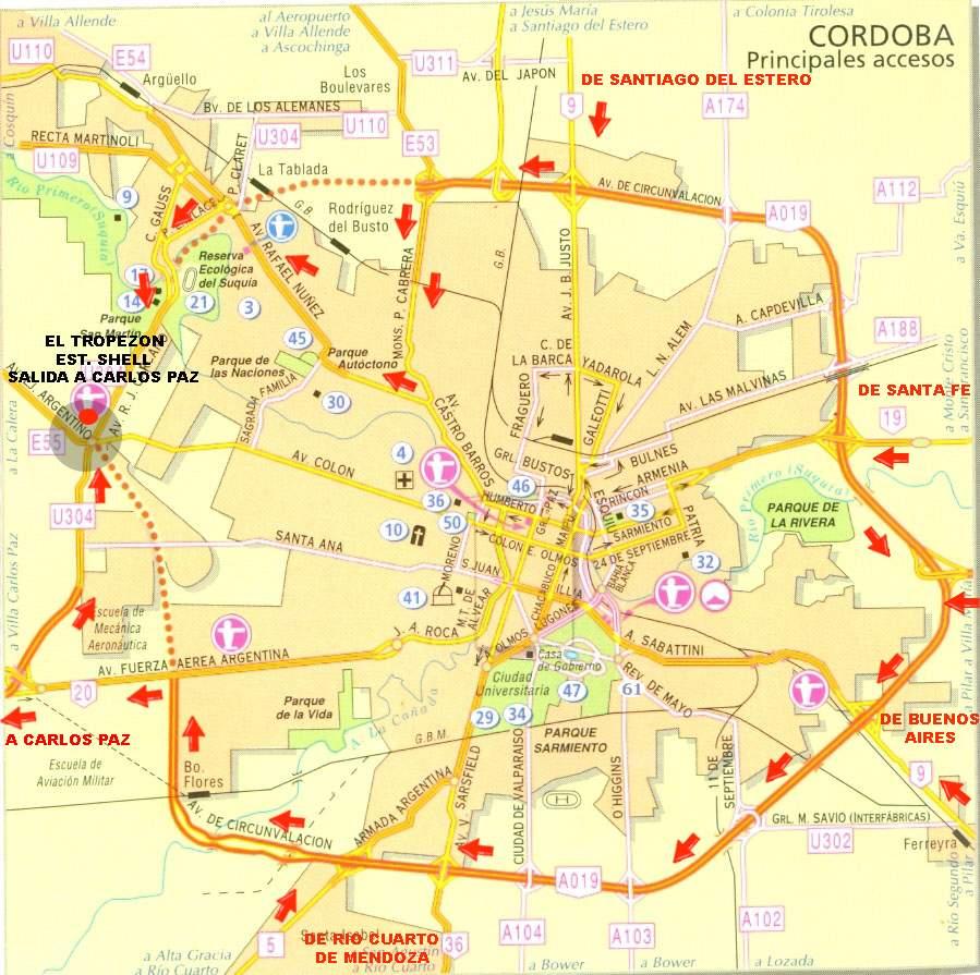 Mapa De Cordoba Capital.Mapa Cordoba Capital Mapa