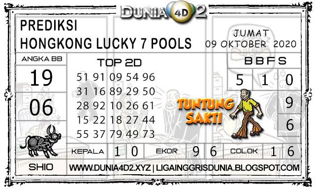 Prediksi Togel HONGKONG LUCKY7 DUNIA4D2 09 OKTOBER 2020