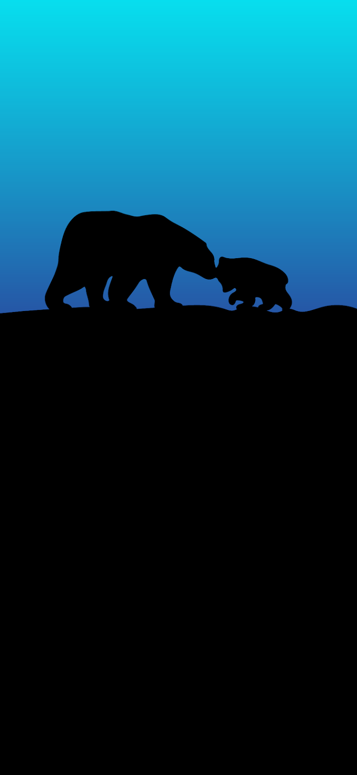 mom-bear-and-puppy-silhouette
