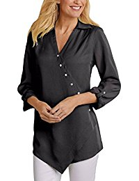 Buy Women's Floral Tunic Tops Loose Blouse Button Up Shirts