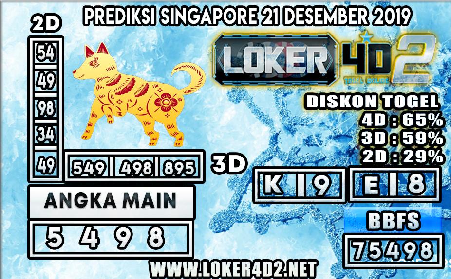 PREDIKSI TOGEL SINGAPORE LOKER4D2 21 DESEMBER 2019