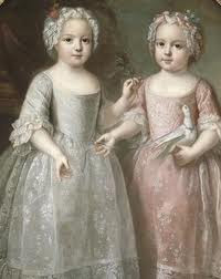 Louise Élisabeth and Henriette de France by Pierre Gobert, 1737