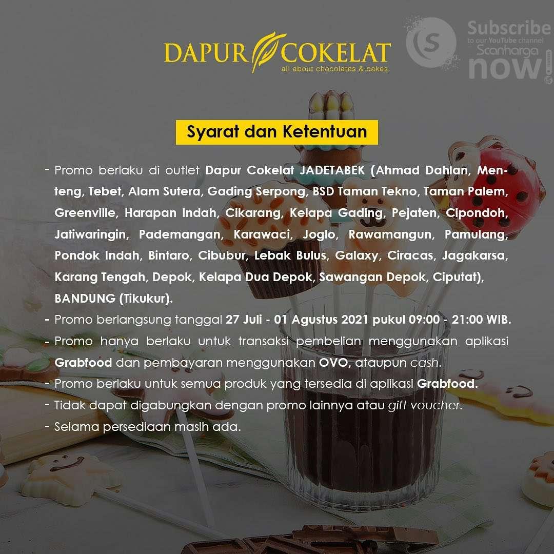 Promo DAPUR COKELAT DISKON 35% untuk pemesanan via GRABFOOD 2