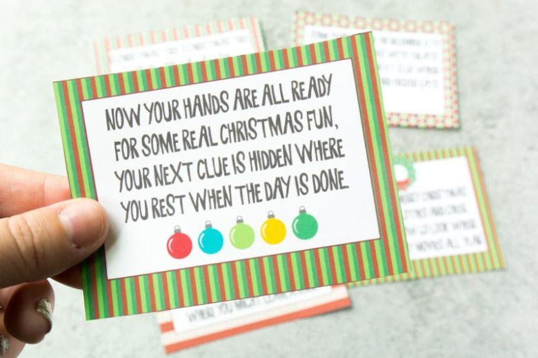Christmas scavenger hunt activity for kids