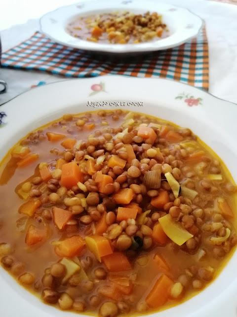 Lentejas Al Curry Con Hortalizas