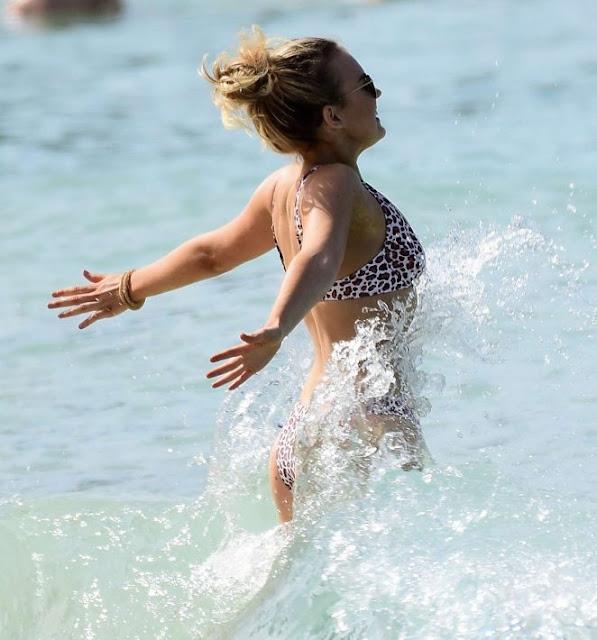 Tallia Storm in Bikini in Barbados