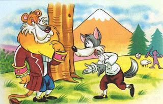 fabula corta el leon y el lobo