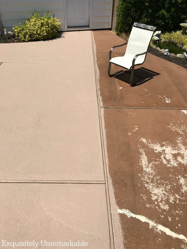Before And After Painted Patio