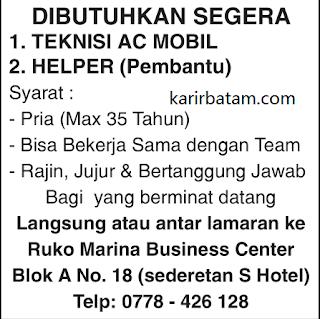 Lowongan Kerja Teknisi Marina Business Centre