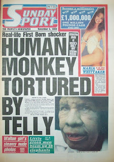 Sunday Sport newspaper front page from 6th Nov 1988