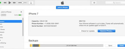 iPhone Password With itunes