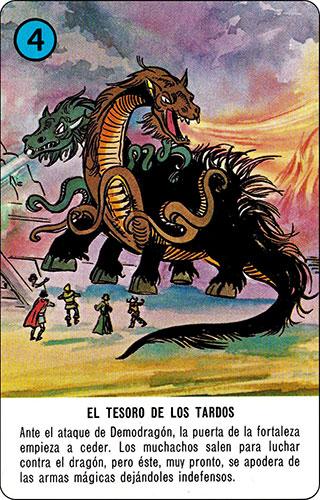 Baraja Dragones y mazmorras Heraclio Fournier Carta azul 4