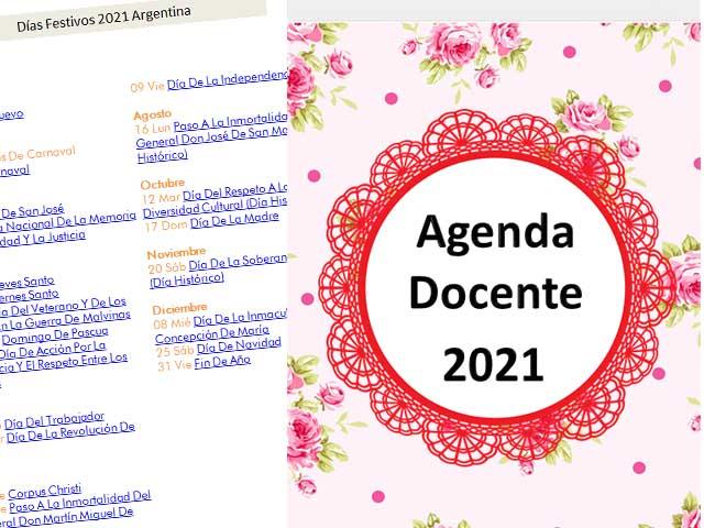 Agenda Docente Floral 2021 - 177 páginas