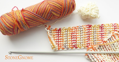 Practicing a new stitch or how to hold the hook
