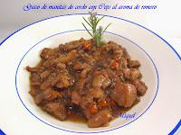 Guiso de manitas de cerdo con Ceps al aroma de romero