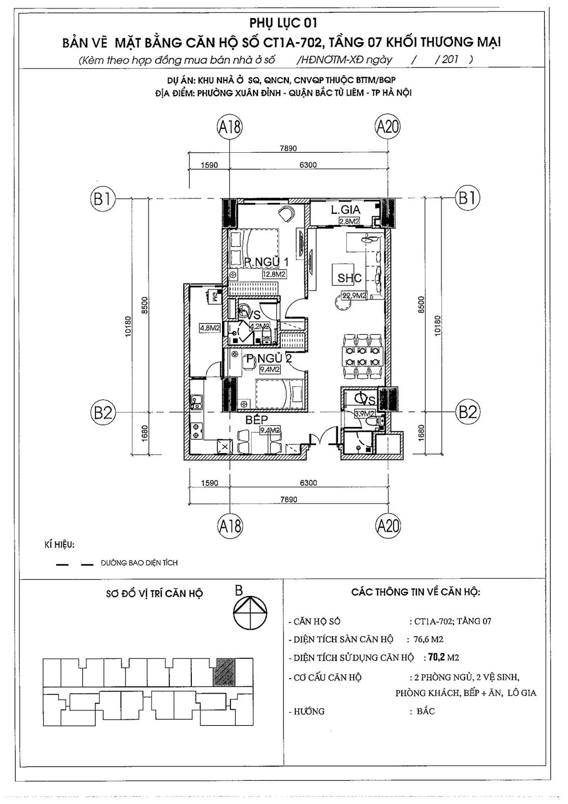 [ Mẫu thiết kế bản CAD căn hộ 02 | Chung cư 789 Xuân Đỉnh ]