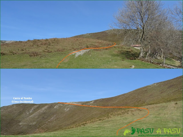 Senda del Chorrón y Foz del Río Valle: Subida a Cerro el Tombu