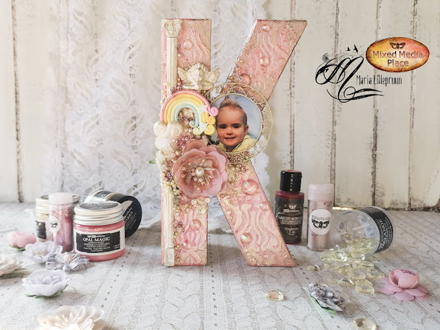 Mixed media 3D letter for kids´ nursery by Maria Lillepruun