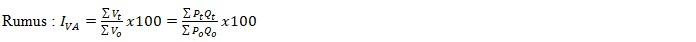 Angka indeks nilai agregat sederhana