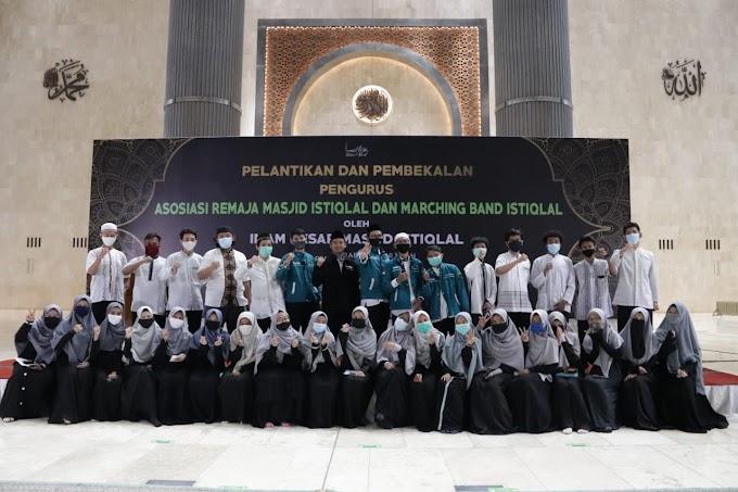 Imam Besar Istiqlal Lakukan Pembekalan dan Pelantikan Pengurus Asosiasi Remaja Masjid Istiqlal dan Marching Band Istiqlal