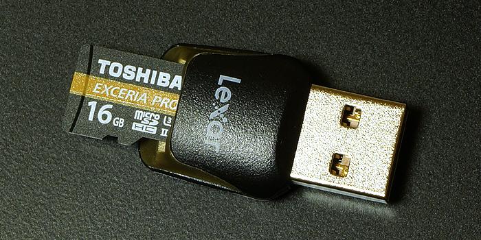 レキサー Lexar マイクロSDカードに付属する「microSDカードリーダー(UHS-II対応)」